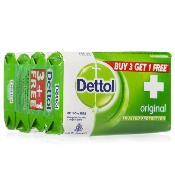 Dettol (ORIGINAL) Buy 3 get 1 Pack 4x75g Soaps