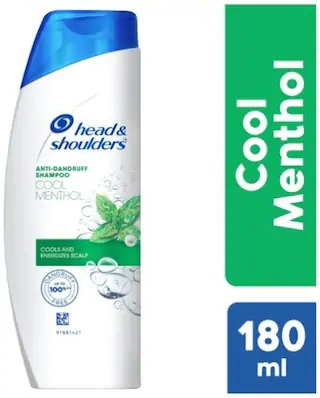 HEAD AND SHOULDERS (ANTI-DANDRUFF, COOL MENTHOL) 180ml SHAMPOO